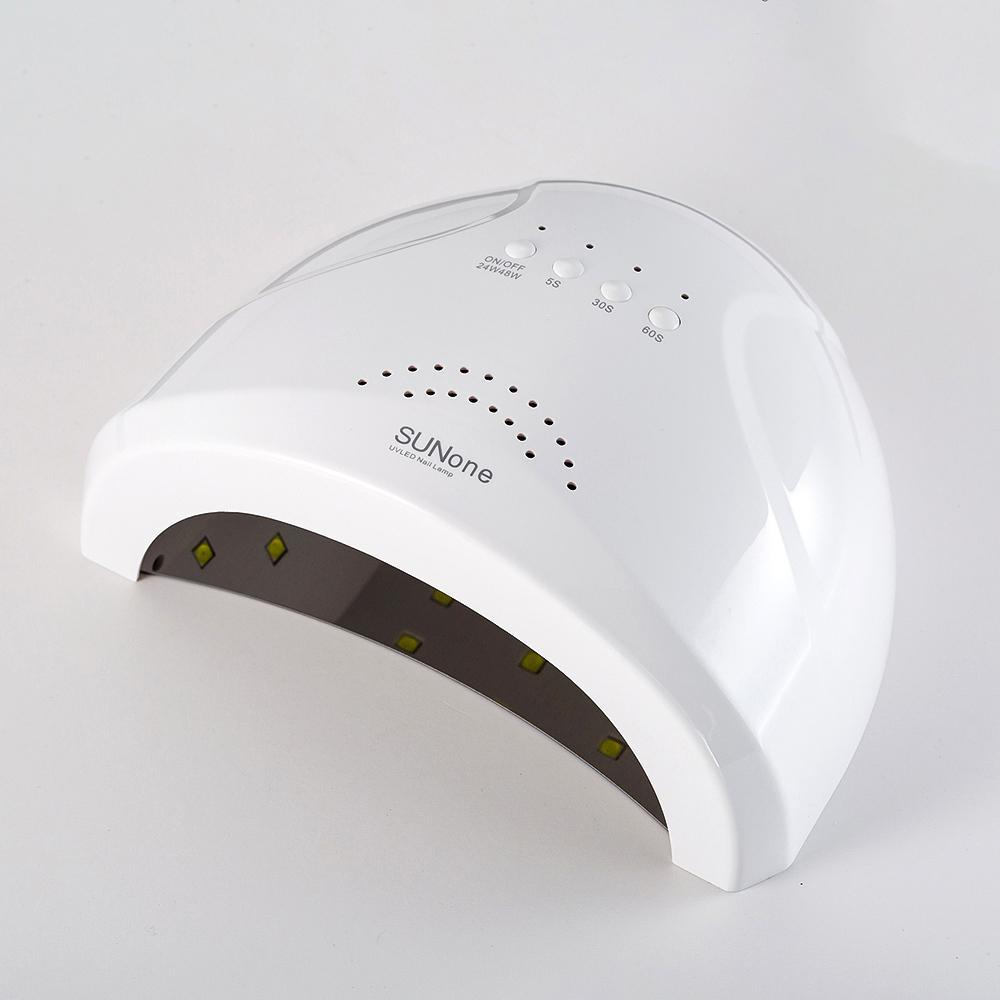Marke SUN ein Nagel-Trockner-48W LED-UV-Lampe für Curing-Gel-Polnisch-Kunst-Werkzeug Licht Fingernail Toenail 5S 30S 60S Maniküre Maschine CY200513
