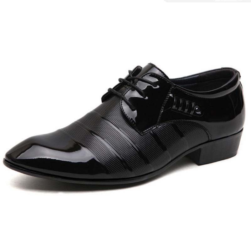 2020 Мужчины Платье Лакированная Кожа Оксфорд Обувь Для Мужчин Зашнуровать Повседневная Бизнес Формальная Обувь Мужчины Свадебные Туфли
