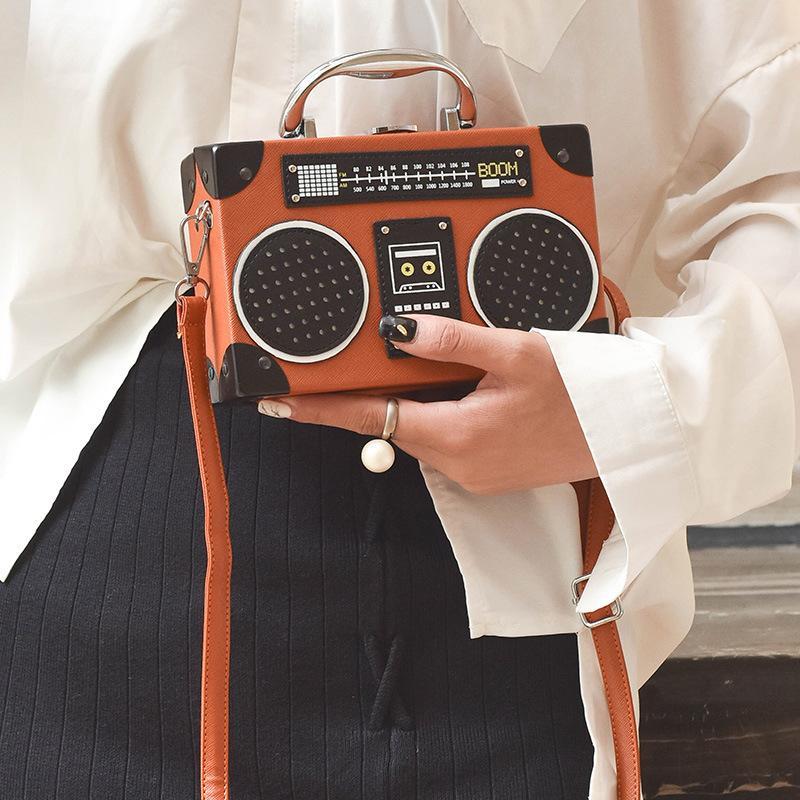 2020 New black radio style pu leather fashion ladies clutch bag shoulder bag handbag female crossbody mini messenger bag purse T200223