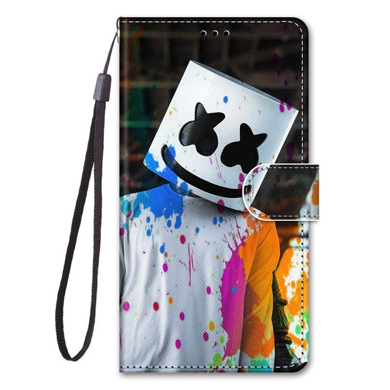 Pintado capa para LG Q6 / Q6 Plus / Q60 / K50 / Slot K12 Prime / V40 / V40 thinq / V50 / V50 thinq 5G FILP Tampa com cartão