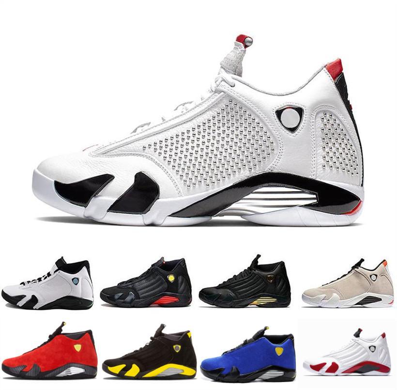 14S Jumpman الرجال أحذية كرة السلة اسكواش الملكي الأحمر عكسي الرياضة المدرب فيرار أطلق عليه الرصاص نشاط أسود تو كرة السلة رياضة ديس Chaussures