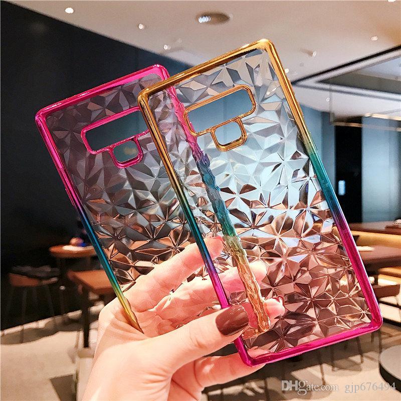 per il telefono mobile di Samsung J510 J710 J2 Prmie colorato con il cristallo gradiente TPU placcatura diamante diamante morbido shellfor Samsung marea