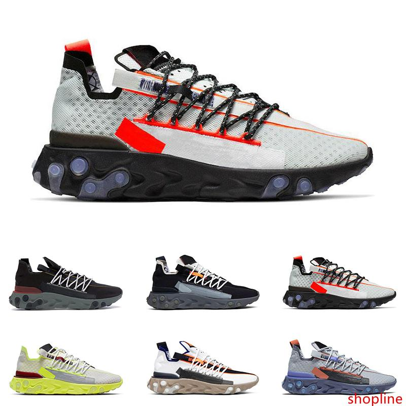 2020 New arrival React WR ISPA men women running shoes Ghost Aqua Wolf Grey Platinum Volt Summit White mens trainer fashion sports sneakers