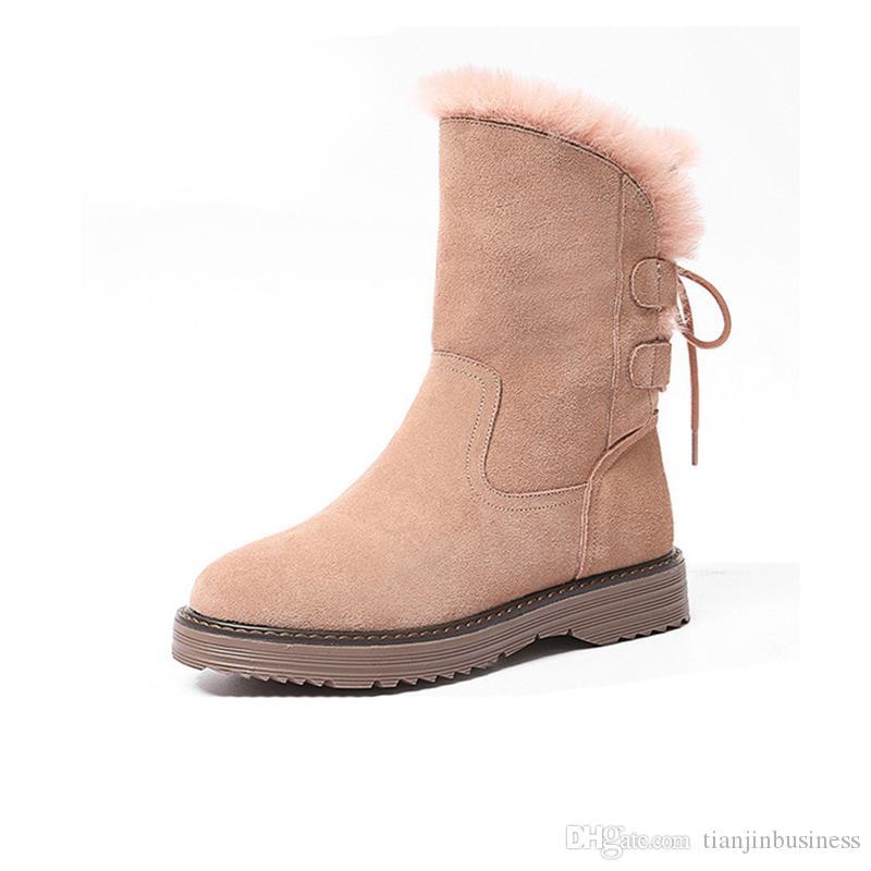 scarponi da neve scarpe da donna inverno 2020 nuovo ispessimento moda casual selvatici più velluto d'inverno di tendenza caldo antiscivolo