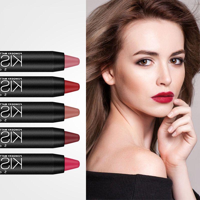 19 Colors Lipstick Pens Waterproof Non-stick Cup Long Lasting Colorfast Velvet Lipstick Beauty Lip Tint