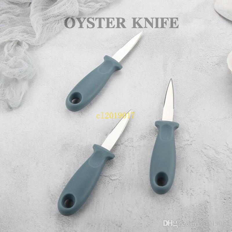 Couteau à huîtres en plastique en acier inoxydable couteau à huîtres couteau domestique