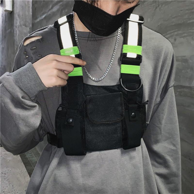 Мода Chest Rig сумка Камуфляж Tactical Vest Harness передний пакет сумка кобура Vest Rig Hip Hop Streetwear Функциональная Chest сумка SH190924