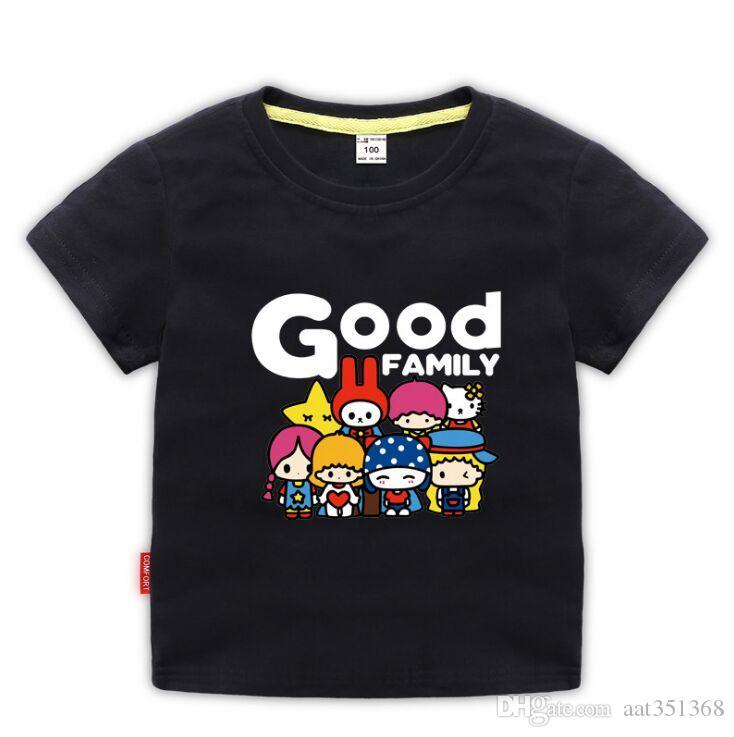 New 2020 Kinder-T-Shirt Karikatur-lustige T-Shirts Sommer-Kostüm-Baby-Mädchen Kleidung Kinder-T-Shirts Kinderbekleidung aus 100% Baumwolle