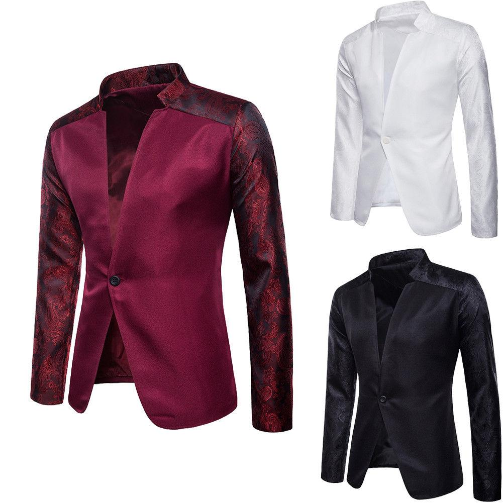Мужчины Blazer Spring Fashion Brand хлопка высокого качества Slim Fit Мужские костюмы Пиджаки Классические мужские костюмы Куртки Пальто