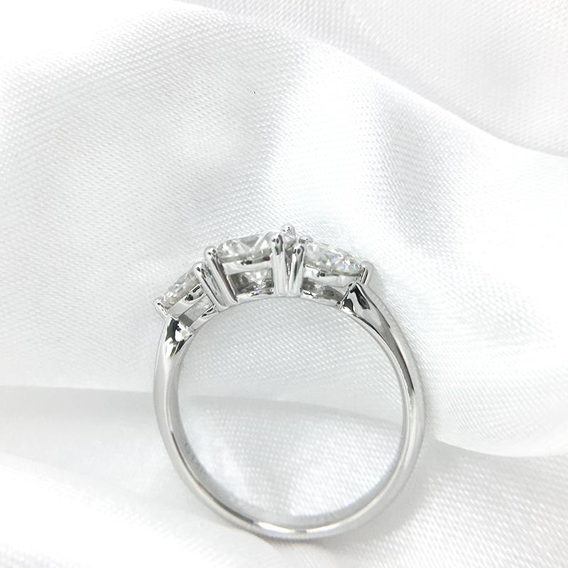 AEAW de la 6.5mm Round Cut Moissanite EngagementWedding Diamant Double Halo Bague en platine plaqué argent Y200321