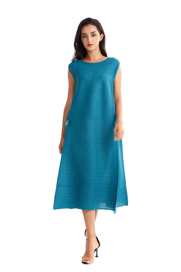 Party Dresses Luxury women Ladies Fold Fashion Leisure Business Party Show Chiffon Loose Dress Best Choice in Summer free size