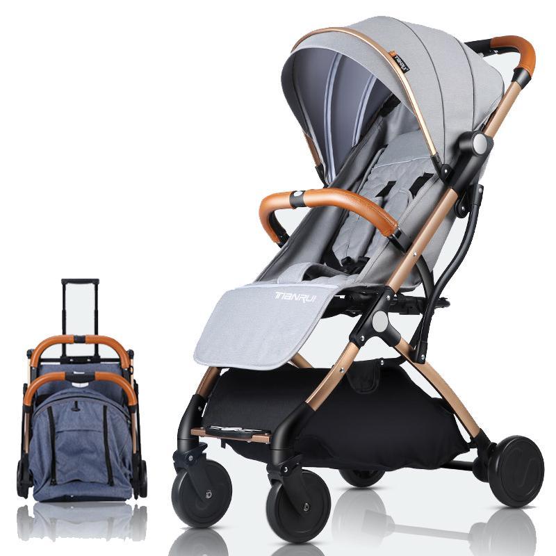 Kinderwagen leichte, tragbare Travel System kann auf Yhe Flugzeug Prams Be Für Neugeborene B B Wagen-Mädchen-Jungen Fast Shipping CJ191115