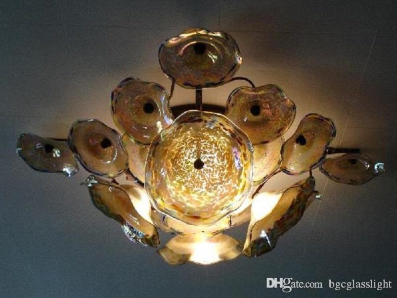 Art Decor colorate Blown lastre di vetro elegante vetro montato colorato di Murano Luce a muro lampada da parete di vetro d'arte con le lampadine LED