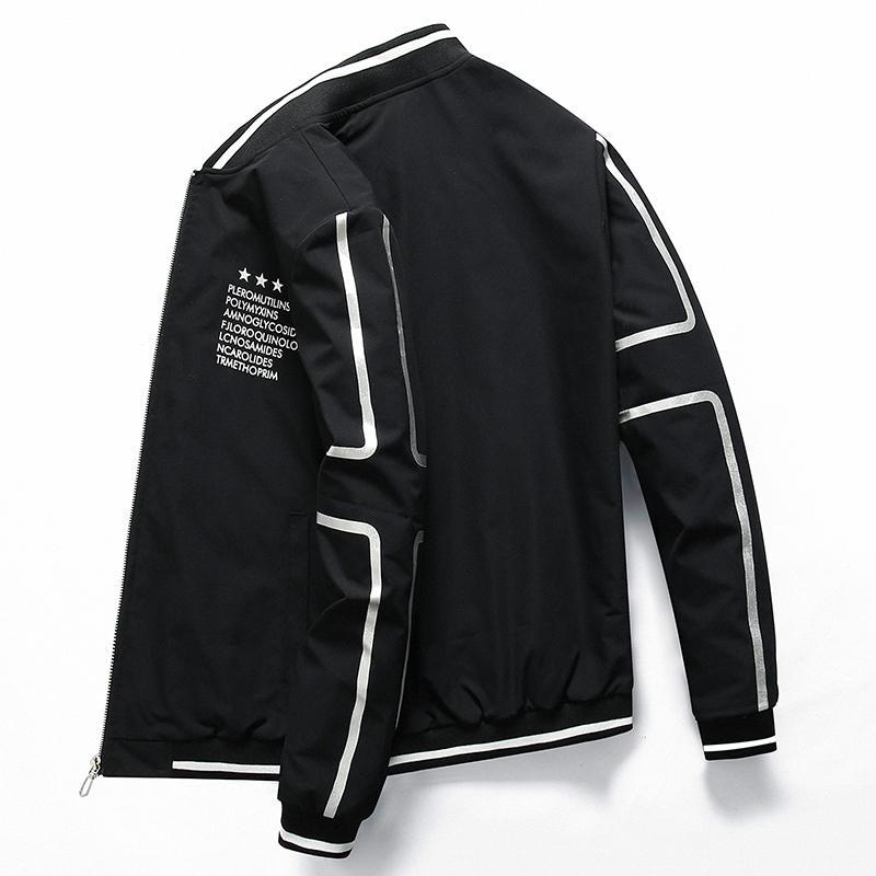 Freizeitjacke Männer Jaqueta masculino Sommer Herbst gedruckt dünne Jacke Stehkragen slim fit outwear Größe M-4XL Dropshipping 8121