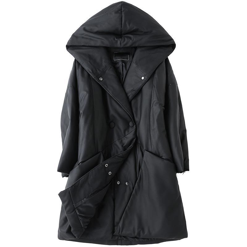 Женская кожаная искусственная роскошная подлинная из овчины замшевая пуховик Parkas пальто с капюшоном зимние женщины свободные верхние одежды LF9023