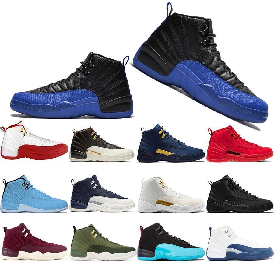 Venta al por mayor nuevo 12 12s juego Royal Fiba Men zapatos de baloncesto Cny Michigan gimnasio Red Nyc Bulls Xii para hombre entrenadores deportivos zapatillas de deporte 7-13