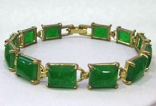 Ювелир жемчужный браслет зеленый драгоценный камень браслет-манжета браслет 7,5 дюймов бесплатная доставка