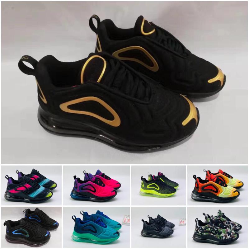 Nike Air Max 720 Kuzey Işıkları 72c Koşu Ayakkabıları çocuk Deniz Orman Çöl 72 Tasarımcı Sneakers çocuk Pembe Deniz Sunrise 2019 yeni hava eğitmenler