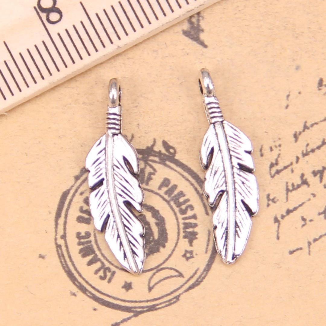 40pcs Charms leaf 24*7mm Antique Pendants,Vintage Tibetan Silver Jewelry,DIY for bracelet necklace
