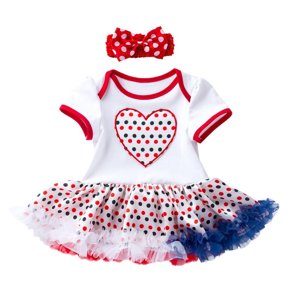 Einzelhandel 9 Farben Mädchen Boutique Outfits Sommer American Independence Day Baby Kurzarm Sterne Druck Rüschen Rock Designer zweiteilige Set