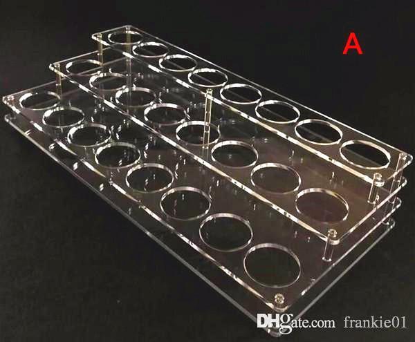 vape acrylic e liquid display case stand 42mm holes for 60ml 50ml 30ml vape ejuice bottle new e liquid bottle holder
