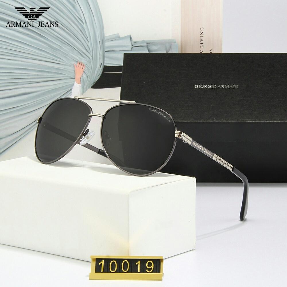 2020 novo Excelente Qualidade Moda designer óculos Semi Quadro Sun Glasses Womens ouro Mens Para aro lentes verdes G15 vidro com casos