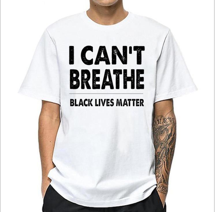Mens Lettera CANT RESPIRARE Tshirt Man O-collo corto Estate manica Designer T degli uomini di modo allentato delle parti superiori casuali