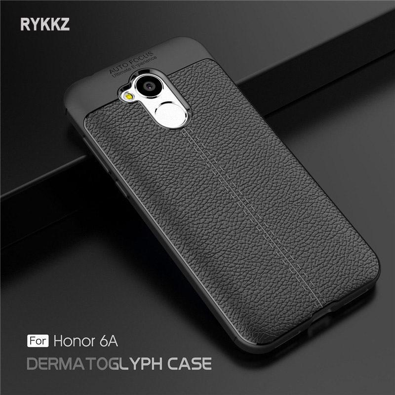 "Case On Honor 6a Luxury Soft Shockproof Leather Grained Tpu Back Cover For Coque Huawei Honor6a 6 A Dli-tl20 5.0"" Phone Cases"