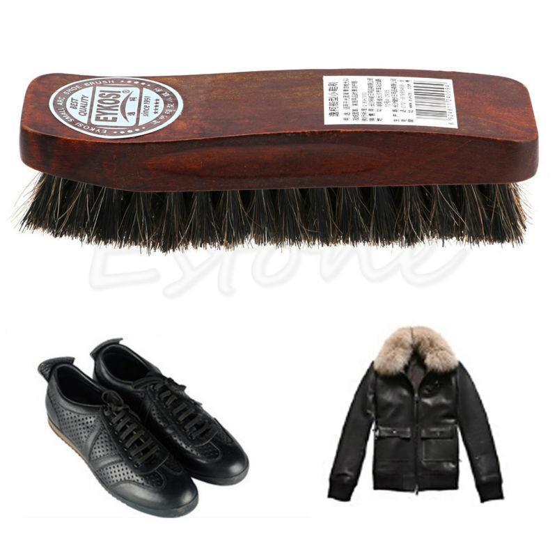 Profesional con cerdas naturales del pelo Horse Shoe Shine polaco pulido Cepillo de Madera