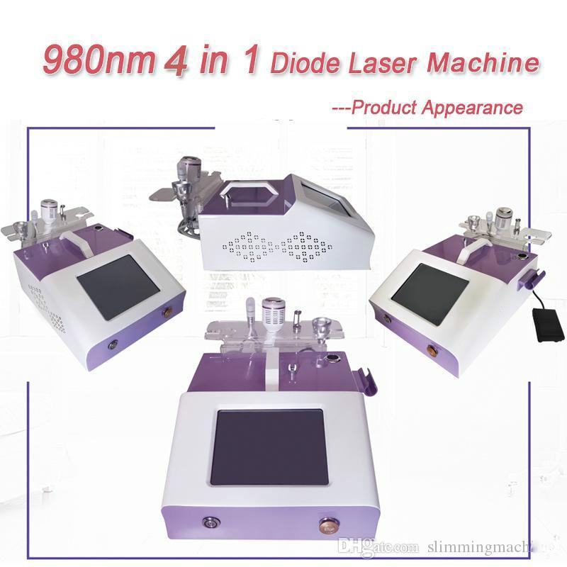 Nouvelle arrivée araignée veine removal machine varices laser diode 980nm machine d'enlèvement vasculaire 980 nm de longueur d'onde de haute énergie 30W beauté