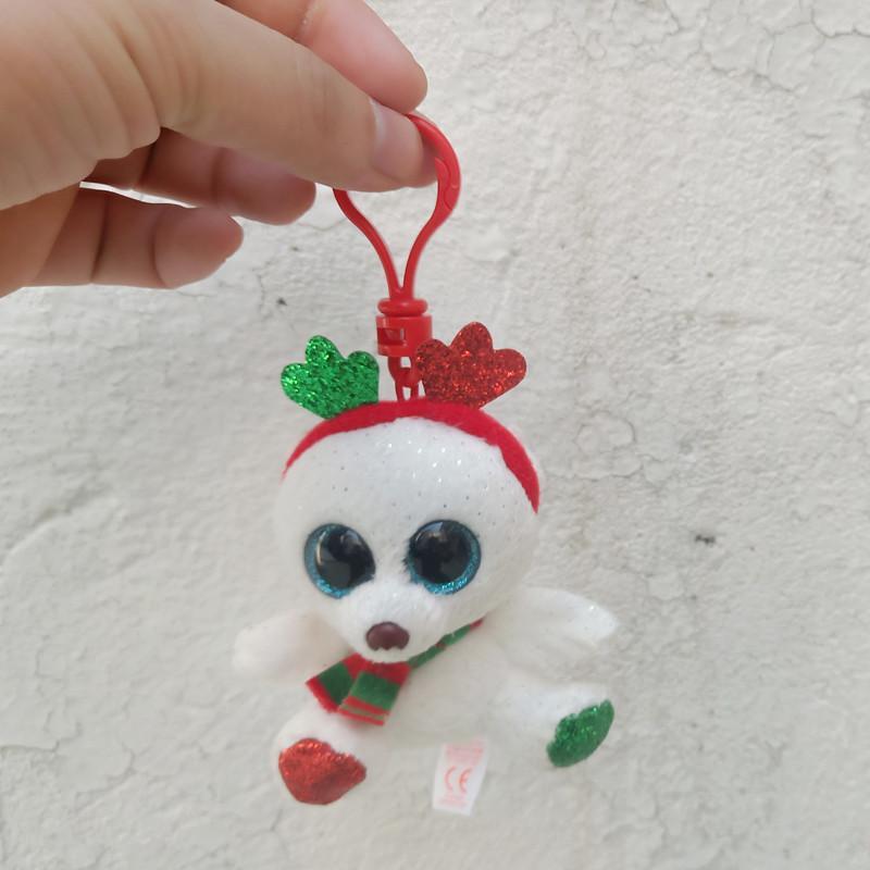 Ty Christmas Bear 2020 2020 Ty Beanie Boos 4 10cm Christmas Bear Keychain Clip Stuffed
