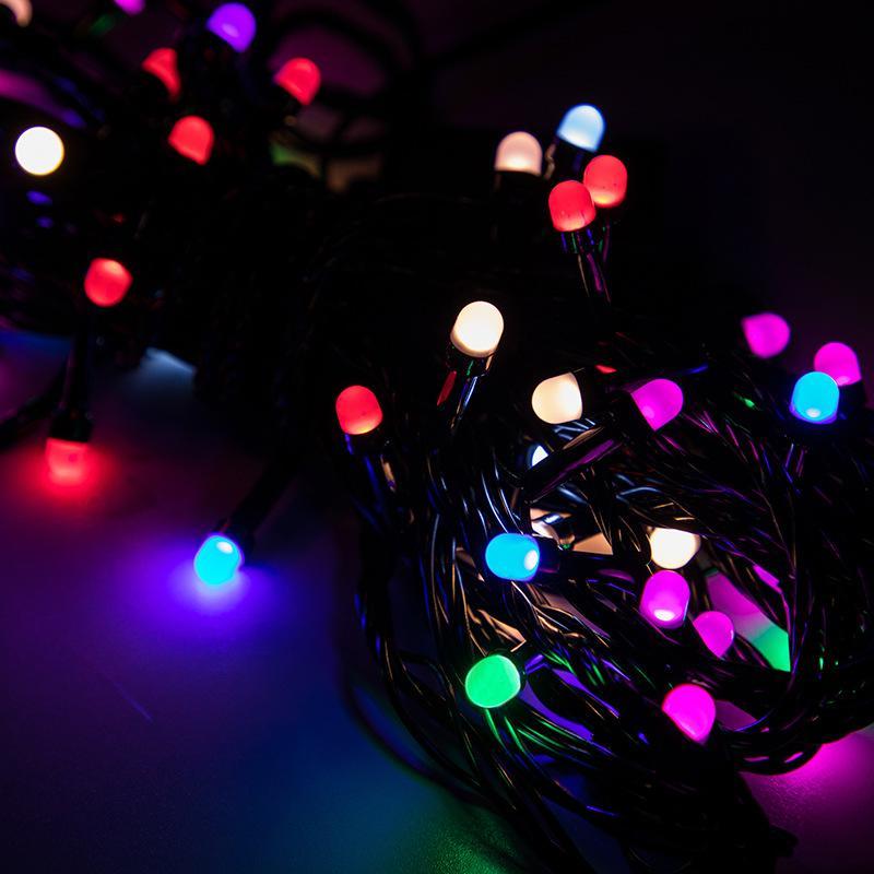 Noel Günü Dekorasyon Işıkları LED Uzaktan Kumanda Renkli Işık Dize Enerji Tasarrufu Romantik Sis Kabarcık Dizeleri Lamba 11xc L1