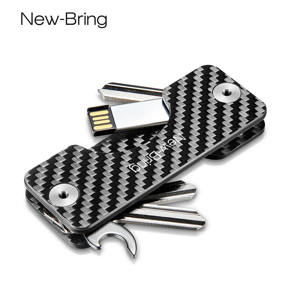 Newbring Smart Key Holder Keychain Car Key Wallets Ring Collector Housekeeper Carbon Fiber G2 Diy Edc Pocket Key Organizer Smart Y19052202