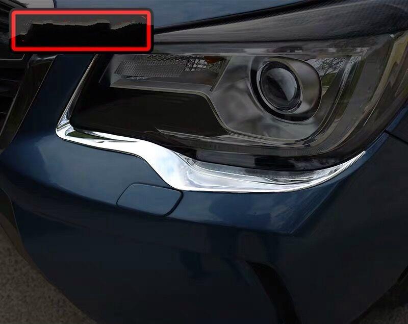 لسوبارو فورستر 2013 2PCS جودة عالية ABS الكروم السيارة العلوي تغطية الحاجب تريم لزينة السيارات التصميم