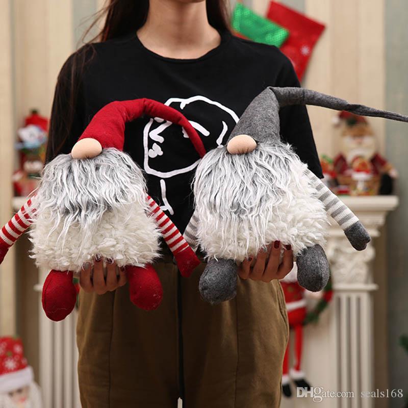 Peluş İsveçli Tomte Noel Dekorasyon Noel Baba İskandinav Peluş Noel Gnome Peluş-Noel Hediyesi Doğum DHL Gemi HH9-2556