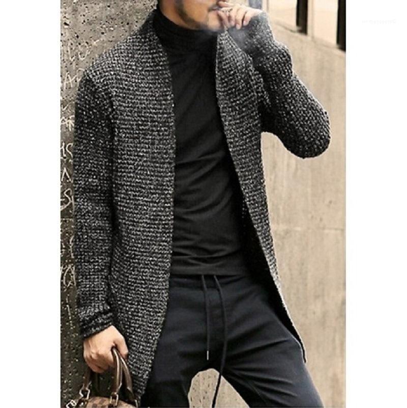 Maglione solido lungo cardigan Primavera Fashion Designer Casual Felpe Uomo Autunno Designer