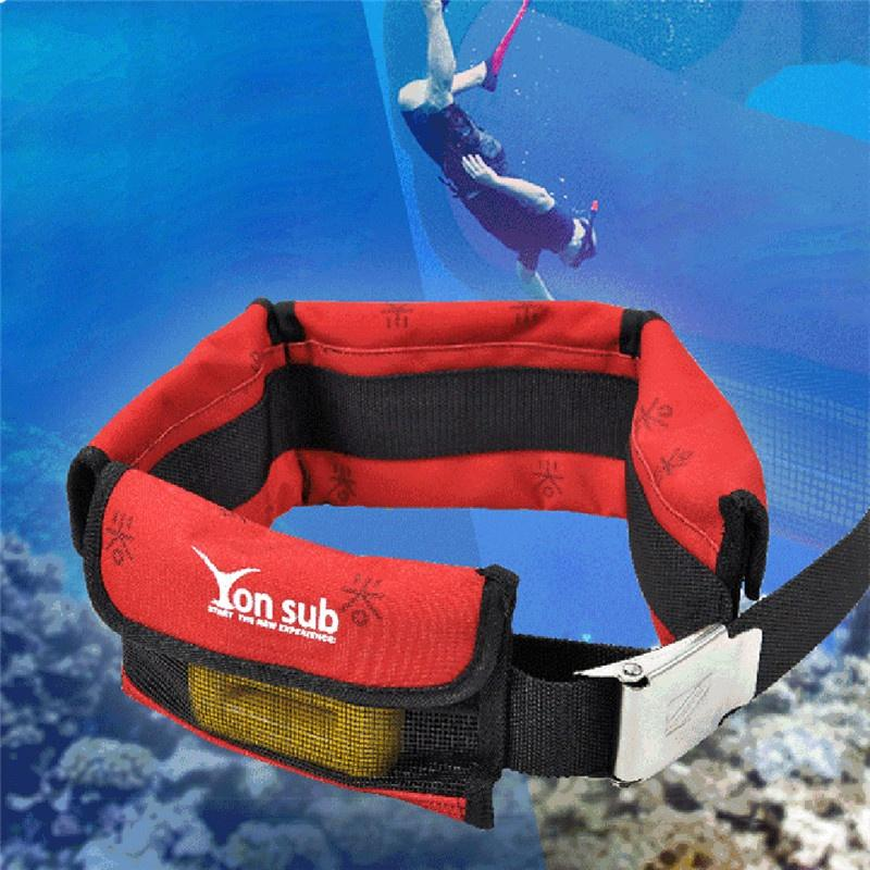 Adjustable Scuba 4/3 Pocket Diving Weight Belt With Stainless Steel Buckle Water Sport Equipment For Underwater Hunting 2
