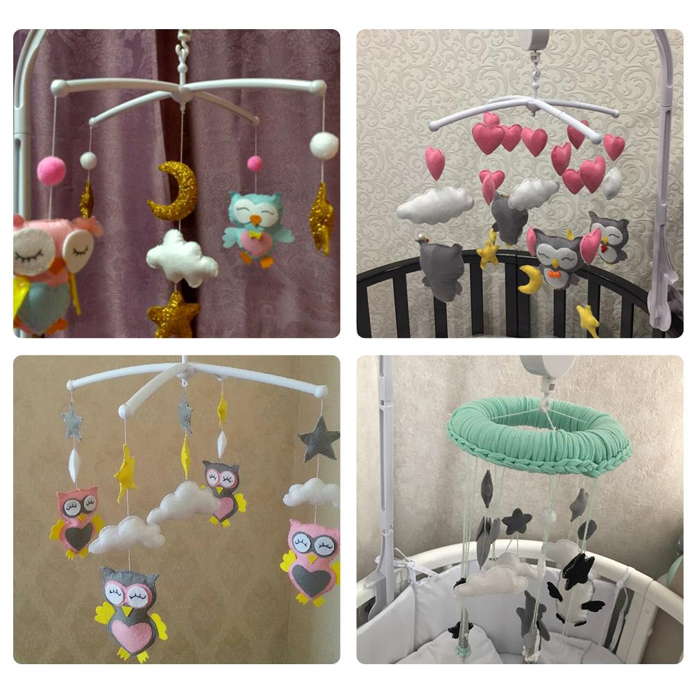 2019 Rattles Set Diy Hanging Baby Crib Mobile Bed Bell Toy Rotary Holder Arm Bracket With Clockwork Movement Music Box Q190531 From Yiwang09 15 18