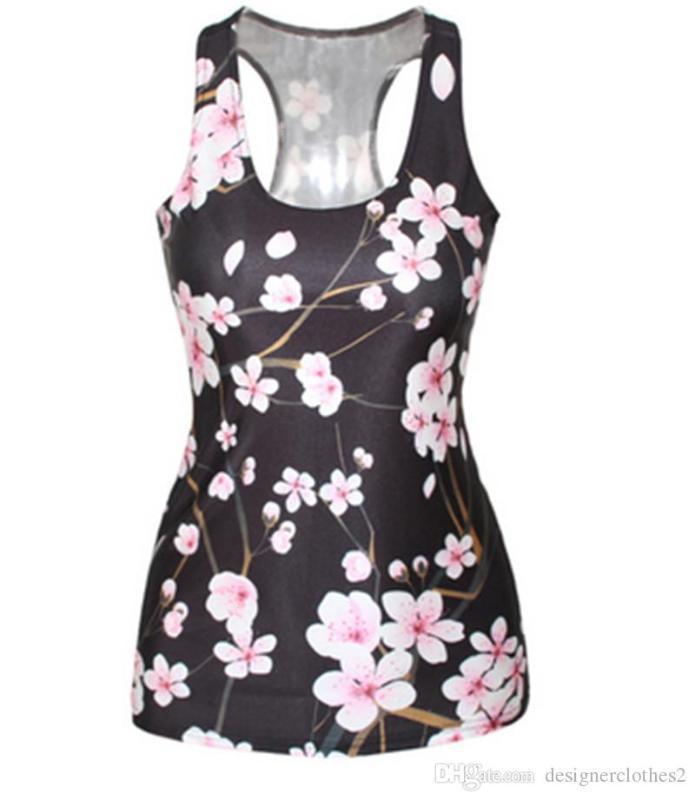 Tanques das senhoras skinny slim estiramento das mulheres Top Summer Fashion Sexy Ladies H Vest 3D Impresso Digital