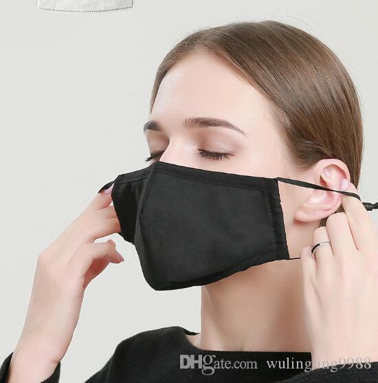 Оптовые моющиеся маски PM2. 5 Маска фильтр анти-запах смог изготовленный на заказ хлопок пыльца пыль рот маска для лица с 2 фильтрами