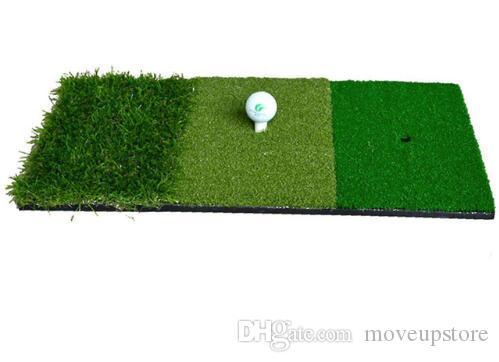 12''EX24'''Golf Hatting Tapis d'intérieur Tapis de golf Tri-Turf avec t-shirt Hole Prating Golf Protable Formation Aides à la formation
