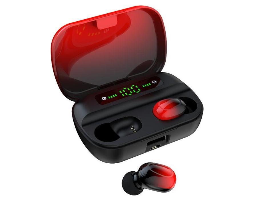 F9 Casque sans fil Touch Control Tws 5.0 Bluetooth Oreillettes 9D stéréo Hifi étanche Sport écouteurs mains libres Gaming Headset avec micro #O
