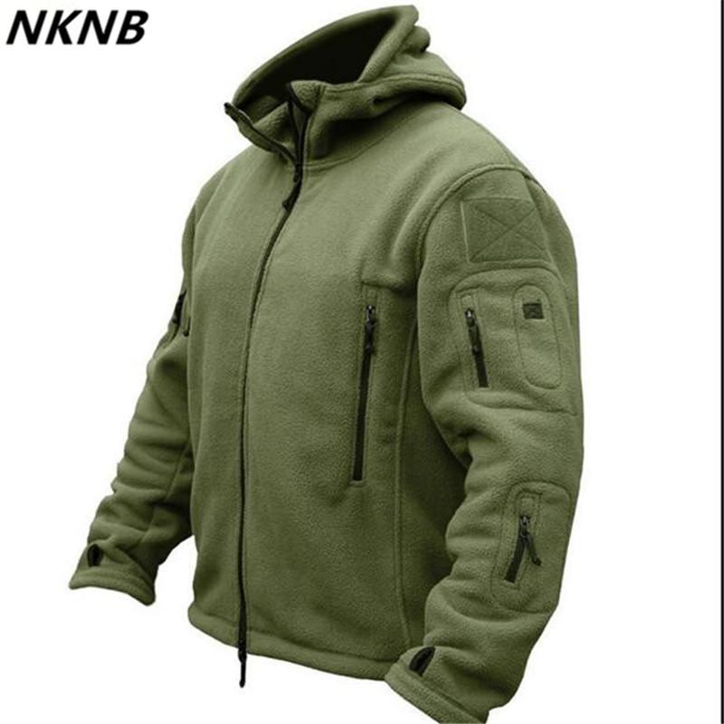 Hombre Chaqueta de lana Softshell táctico Polartec Térmica Polar con capucha Prendas de abrigo Abrigo Ejército Ropa