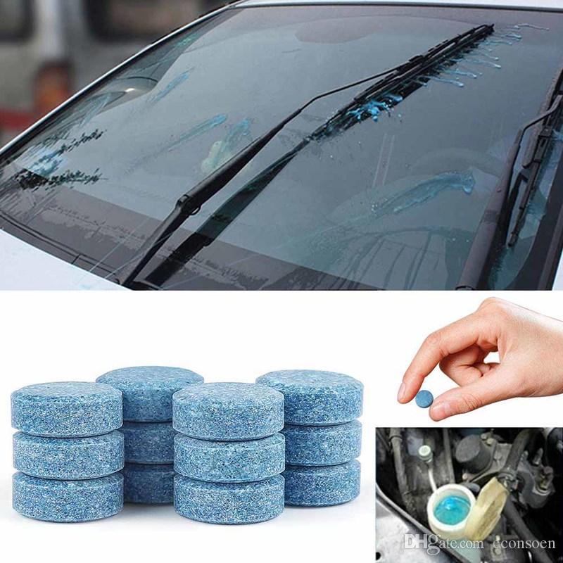 100pcs 1pc = 4L 물 자동차 앞 유리 안경 자동 유리 세탁기 창 클리너 소형 발포성 태블릿 세제 자동차 액세서리