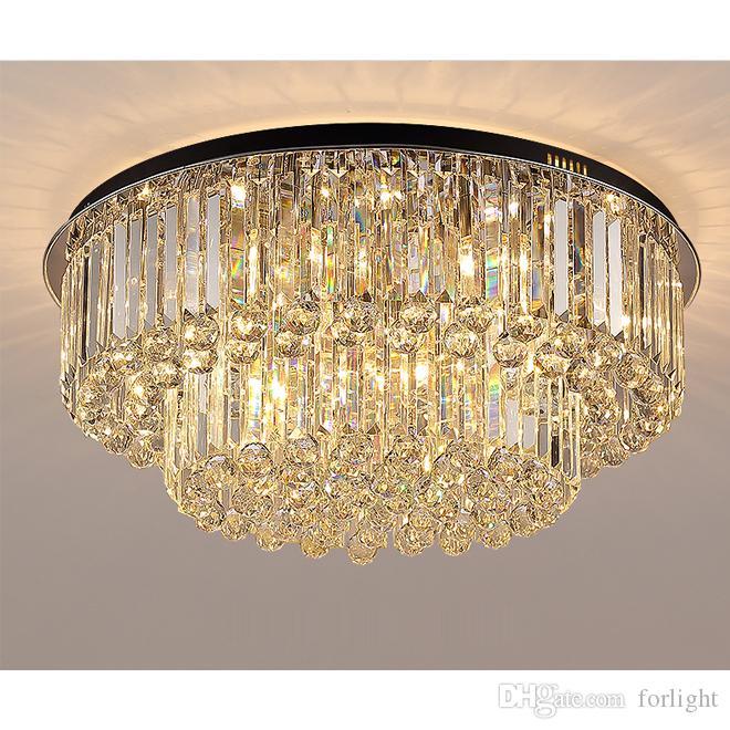 Новый дизайн современный кристалл круглый люстра свет гостиной спальни Хрустальные люстры потолочные люстры роскошные светильники