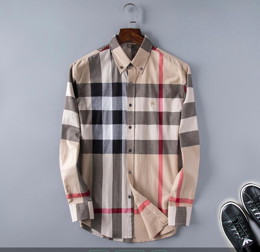дизайнер мужской рубашки Классическая решетка роскошь рубашки вскользь скейтборд т shirte алфавит печати хип-хоп Уличная рубашки # 09