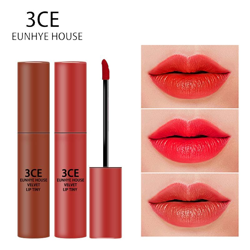 10pcs/10colors/set 3CE Eunhye House Waterproof Liquid Lip Gloss Lips Cosmetics Lip Tint Moisturizer Lipgloss Long-lasting Lip Makeup