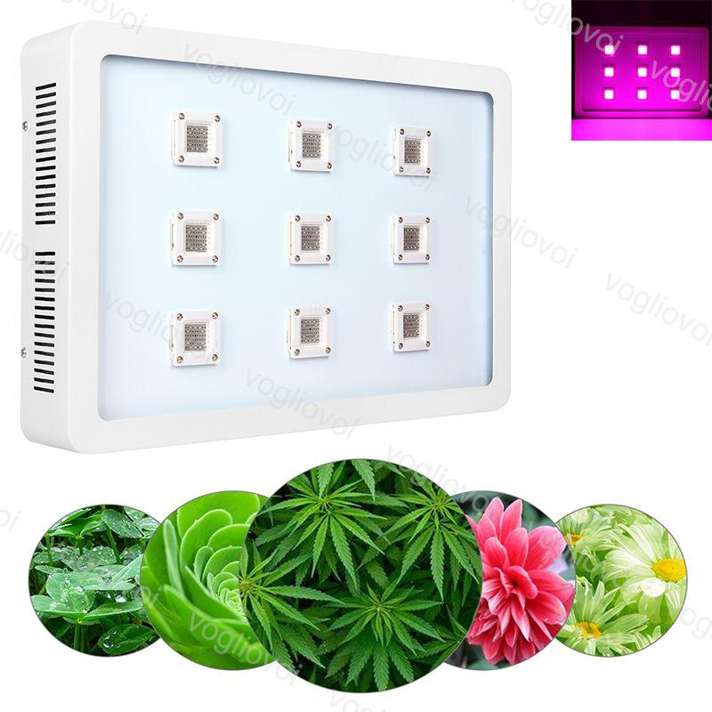 Full Spectrum LED lampes 2700W X9 COB Aluminium Double commutateur pour plantes d'intérieur extérieur hydroponique à effet de serre d'éclairage DHL