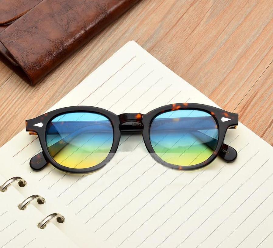 JackJad Moscot Новая мода Джонни Депп Lemtosh Стиль Круглые солнцезащитные очки Оттенок Ocean Lens Brand Design Party Show ВС очки óculos De Sol