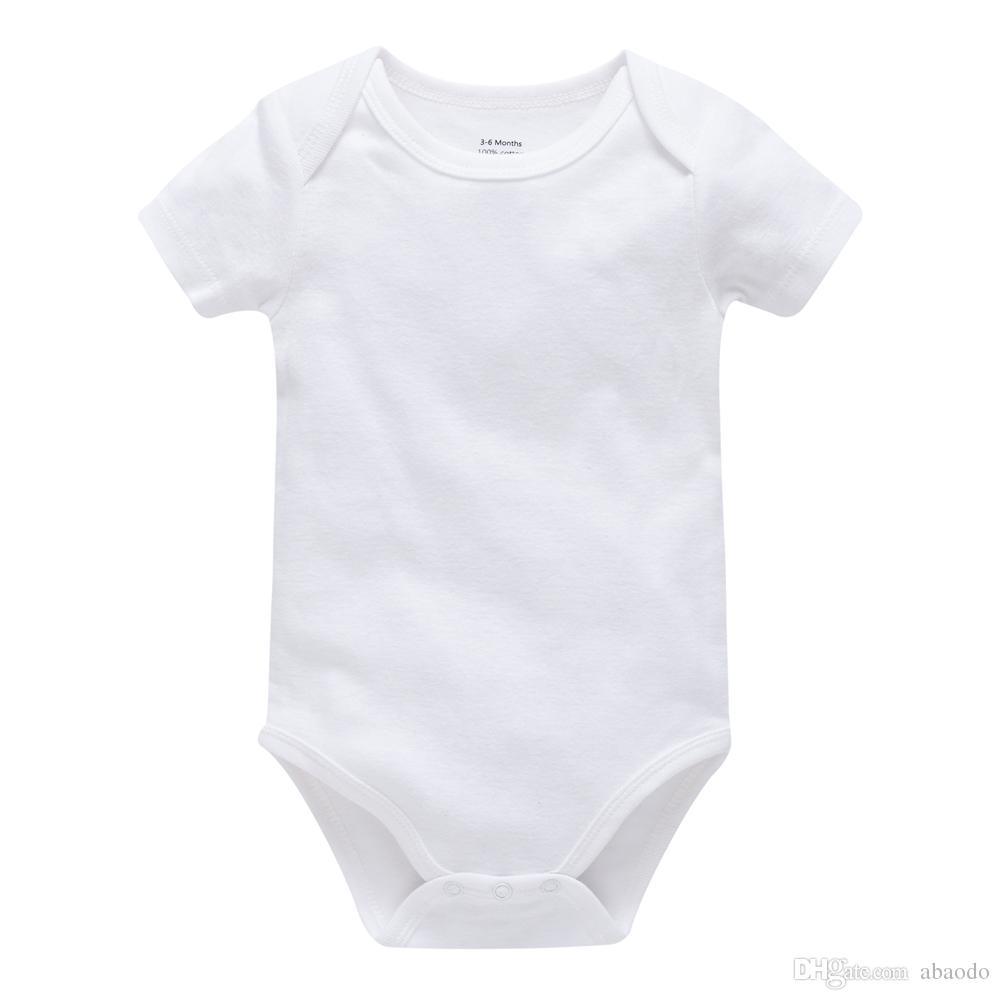 Bulk Purchasing baby rompers 100% cotton white infants bodysuit newborn baby boys girls onesies de bebes clothing OEM & ODM
